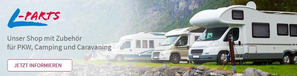 Link zum L-Parts Shop | Zubehör für PKW, Camping und Caravaning