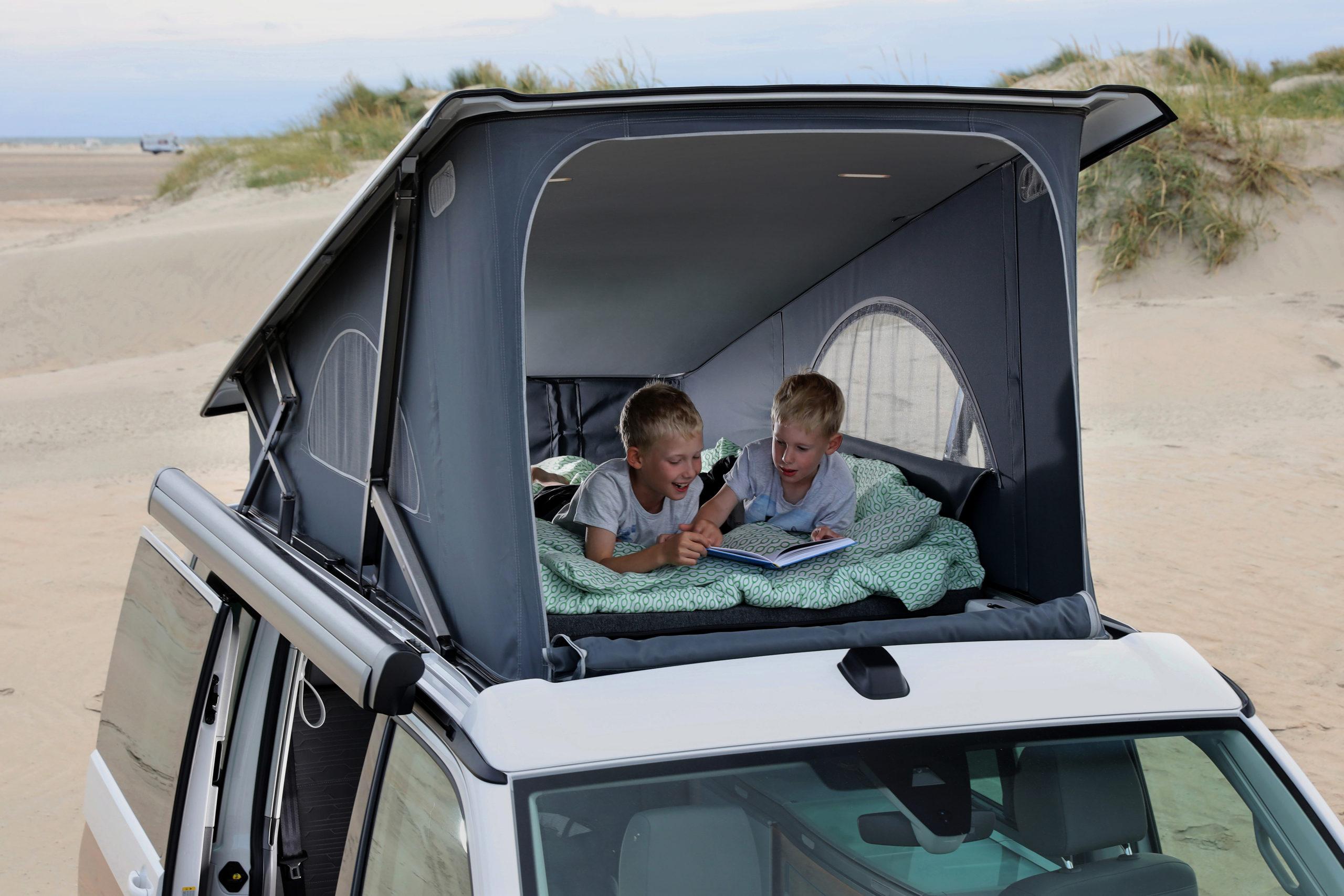 Knaus Van I 650 MEG Draufsicht Alkoven